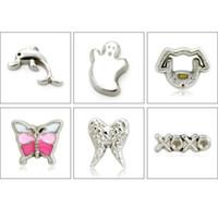10pcs / lot all'ingrosso fai da te mini fascino galleggiante per braccialetto della collana LSFC319-614