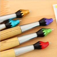 الصينية الخط فرشاة على شكل قلم 1.0MM أقلام حبر جاف الخشب زيت صورة زيتية فرشاة أقلام حبر جاف الكتابة مستلزمات مكتبية مدرسة HA431