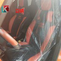 Sillas automóvil nuevo funda desechable Borrar el polvo anti salpicaduras y Splatte silla del coche de la manga de plástico Auto Asientos cubiertas del asiento individual 0 29kl E19