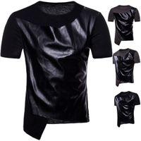 Mens Designer T Shitrs Spell Leather Cool O-образным вырезом с коротким рукавом в стиле хип-хоп Лето Новые модные рубашки мужские