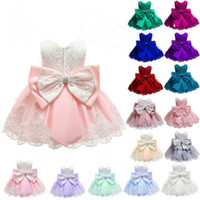 Toddler Girls Dresses Lace Baby Girl Princess Dress Big Bow ...