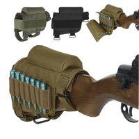 Tactical Schaftbacke Schulterstütze Gewehr Gewehrkugel Stock Ammo Shell Magazine Molle Pouch Patronenhalter-Beutel-Jagd-Schießen Einschuss Bag