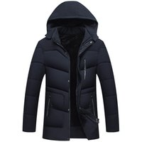 New Men Winter Jacket Fashion Hooded Thermal Down Cotton Par...