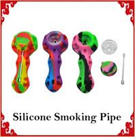 Силиконовая курительная трубка Ручная ложка для труб Кальянные бонги multi Colours силиконовые масляные мазки с мазком 0266155-2
