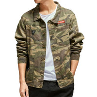 Giacche da uomo Mens Fashion Camouflage Denim Cargo Hip Hop Style Style Style Multi Tasche Jeans Giacca giacca Cappotti maschili