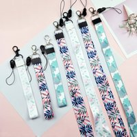 Fashion DIY Ribbon Band Keychain Short Long Ribbons Phone Case Lanyard Home Key Chain Car Key Ring For Women Men Pendant Jewelry