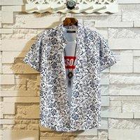 Camicie casual da uomo Beach Men Summer Vacation Camisas PARO HOMBRE ABITO SOCIALE SOCIALE STAMPATA MANICO PROGETTA PROGETTA ABEAIANI PER M-5XL