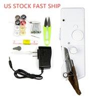 Pedale US stock royalty-Mini Handheld Macchine da cucire Dual Speed filo doppio multifunzione battistrada elettrica Rewind macchina per cucire