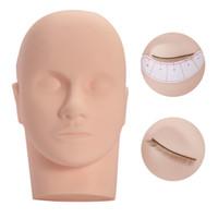 Massagem Manequim Cabeça Eye Facial Eyelash Eyelash Extensão Maquiagem Modelo Cosmético Modelo Profissional Training Heads Ferramenta