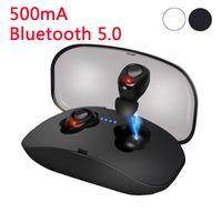 X18 TWS Invisible Mini 이어 버드 무선 Bluetooth 이어폰 3D 스테레오 핸즈프리 소음 제거 Bluetooth 5.0 스마트 폰용 헤드셋