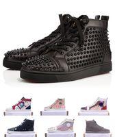 2019 ACE Rouge Bas Marque de luxe de clouté Spikes Flats chaussures de sport chaussures pour hommes et femmes Party Lovers Sneakers en cuir véritable