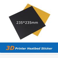 1шт черный 235 * 235 мм тепла кровать стикер парник платформа лист бумаги для Эндер-3 Эндер-2 3D принтер частей