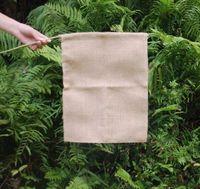 Burlap Garden Flag 31 * 46CM джутовые оборками DIY белье Yard висячие Флаг Украшение дома Портативный Баннер 4 Стили