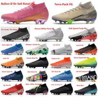 새로운 클리트 머큐리얼 슈퍼 플라이 VI 360 개 엘리트 축구 신발 Mbappé은 본디 taquets KJ 13S CR7 호날두 남성 축구 부츠 클리트 크기 39-45를 X