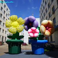 3.5 متر نفخ بوعاء النباتات في الهواء الطلق الحدث عباد الشمس التضخم الشارع ديكور زهرة اصطناعية