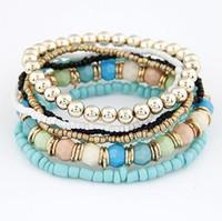 Nuovi braccialetti di perline a più strati della Boemia insiemi il braccialetto dei branelli di stile dell'oceano delle donne per il regalo femminile dei monili di modo