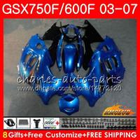 KIT BODY PER SUZUKI KATANA GSXF600 GSXF750 BLU BLUE 03 04 05 06 07 3HC.28 GSX750F GSX600F GSXF 750 600 2003 2004 2005 2006 2007 Fairing