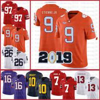 Clemson Kaplanları Amerikan Futbolu Forması 16 Trevor Lawrence 9 Travis Etienne Jr. Spor Giyer NCAA Formalar 13 Tua Tagovailoa Tom Brady Cszre