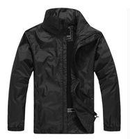 Mens Marca exteriores ocasionais dos revestimentos venda quente impermeável Masculino Coats bolso com zíper Mens Fashion Windbreaker Jackets