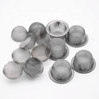 Kristal sigara için Boru Metal Filtre ekranını Sigara 60 Mesh 0.5inch Yuvarlak Çap 304 Paslanmaz Çelik Pirinç Kubbeli Bowl Gümüş Ekranlar