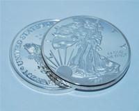 2000-2019 1 oz American Eagle Moneta Argento Statua della Libertà Moneta Argento No Magnetismo Effetto Specchio Decorazioni per la casa Regali da collezione