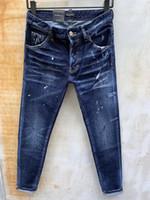 DSQ Phantom Tortue Classic Fashion Homme Jeans Hip Hop Rock Moto Mens Décontracté Design Décontracté Jeans Détresse Skinny Denim Biker DSQ Jeans 6962