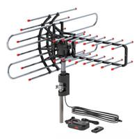 في الهواء الطلق HDTV TV الهوائي مضمون بمحركات 360 درجة دوران هوائي رقمي 36db الدوار UHF / VHF / FM 150miles