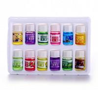 12 teile / satz ätherische öle auto natürliche pflanze wesentliche luftbefeuchter auffrischungsmittel wasser lösliches parfümöl