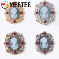 meetee 10pcs Vintage Rhinestone Buttons Clothes Decorative B...