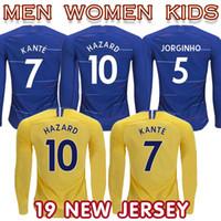 10d40e0e6 New Arrival. 2019 long sleeves HAZARD Wholesale Soccer Jersey Kovacic  JORGINHO GIROUD MORATA Football Shirt WILLIAN Pedro Moses ...