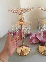 Золотой Кристалл Подсвечник Свадебные Украшения Стол Центральные Канделябры День Рождения Ваза Для Цветов Держатель Домашнего Декора