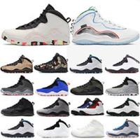 Ny 10 10s Cement Män Basketskor Westbrook Bobcats Chicago Cool Grå Jag är tillbaka Vit Trainers Mens Sportskor Sneakers US 7-13