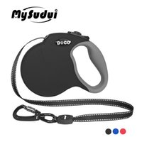 Mysudui 4m 5m extensión automática de nylon reflectante lleva gran correa retráctil para perro grande C19021302
