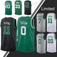 806bafd8d9b Boston jerseys Celtic Jayson 0 Tatum jersey 11 Irving Larry 33 Bird Gordon  20 Hayward jerseys