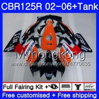 Body + Repsol Orange Tank per Honda CBR-125R 125CC CBR125RR CBR125R 02 03 04 05 06 272HM.5 CBR 125 R 125R 2002 2003 2004 2005 2006 Fairing
