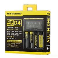 Nitecore D4 Универсальное зарядное устройство Digi - зарядное устройство ecig для ecigs 18650 18600 18350 14500 battery multi function
