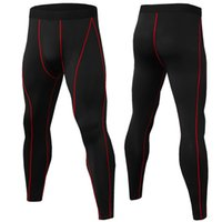 Fitness Men' s Running Tights High Elastic Compression S...