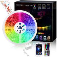 US + LED 스트립 라이트 RGB 5050 5m 50m 50m 100m 유연한 리본 FITA LED 라이트 스트립 RGB 5M 10M 테이프 다이오드 DC 12V + 원격