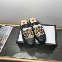 수 놓은 뱀 여성 신발 여름 가죽 동물 여성 로퍼 패션 캐주얼 여성 디자이너 슬리퍼 desinger