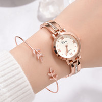 Fashion Ladies Women Stainless Steel Rhinestone Quartz Wrist...