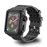 Os mais recentes para Apple Watch 4 40-44mm Vida Waterproof Silicone Desporto de banda para Apple Watch Series 4 Strap Case de proteção com