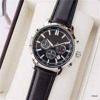 Boss Watch Mens Luxury Watches Movimiento de cuarzo 44mm All Dial Work Hugo Cronograph Diseñador Reloj Banda de cuero Impermeable Montre de Luxe