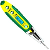 Multifonction Digital Induction Electroprobe Accueil Test Pen LCD Tournevis Testeur Électrique Outils Électriques Outils 12v-35v-55v-110v-220v AC / DC