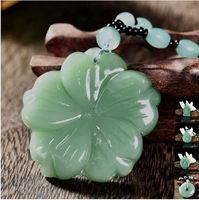 Blanda kinesisk handgjord naturlig jade helande kristall snidad buddha reiki elefant amulet lycklig hängande halsband fin smycken charm