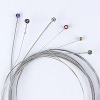 تعيين الفنية 6PCS / مجموعة سلاسل الغيتار الكهربائي 010 009 011 النيكل الجرح غيتار كهربائي سلاسل ضوء منتظم