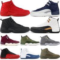 12s Mens Basketball Shoes Winterized WNTR Gym Red Michigan B...