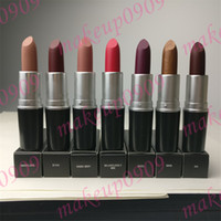 Top quality 41 colori VELVET TEDDY RETRO MATTE ROSSETTO ROSA À LÈVRES CANDY YUM YUM Impermeabile Long Lasting RUBY WOO 3g MIELE AMORE DHL