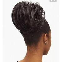 Cinza de prata cabelo humano rabo de cavalo peruca peruca envoltório em torno de Dye livre hightlight natural sal e pimenta cabelo cinza rabo de cavalo 100g 120g