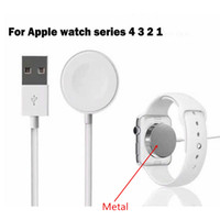 Modelo de metal Cargador magnético para Apple Watch USB de carga inalámbrica 38/40 42/44 mm Para iWatch Series 4 3 2 Cable 1M Cargador de reloj certificado