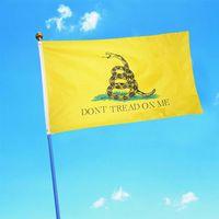 الإبداعية الأفعى طباعة العلم الأزياء gadsden لا تخطو على أعلام حديقة مهرجان حزب زخرفة المنزل الأعلام TTA836